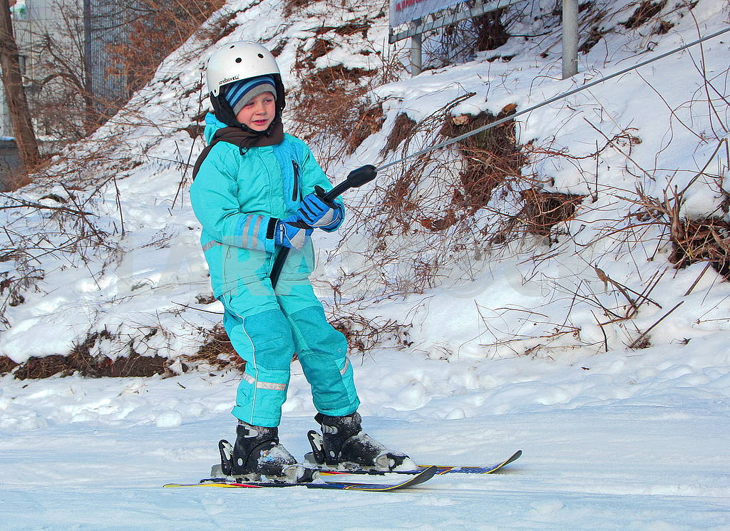 A young skier in Protasovoy Yar — Image 50251