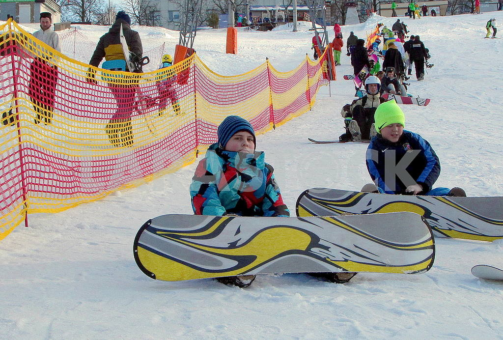 Snowboarders in Protasovoy Yar — Image 50253