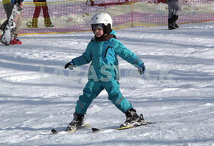 The skier in Protasovoy Yar