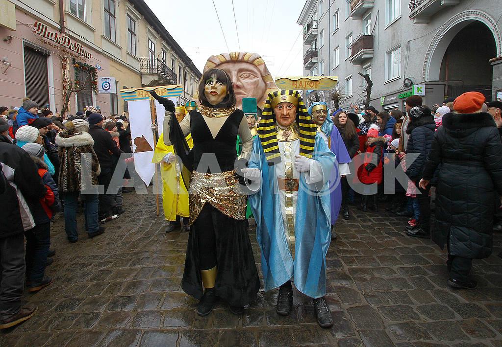 Costumed procession in Chernivtsi — Image 50277