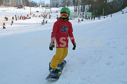 Snowboarder in Protasovoy Yar