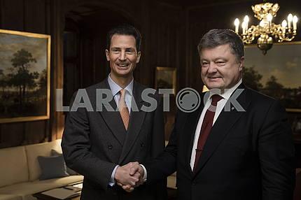 Crown Prince of Liechtenstein Alois and Petro Poroshenko