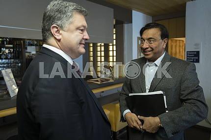 Petro Poroshenko and Lakshmi Mittal