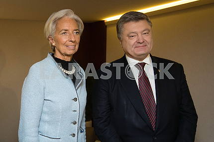 Kristin Lagarde and Petro Poroshenko