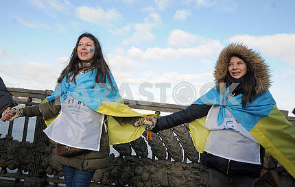 """Action to connect the banks of the Dnieper """"living chain"""""""