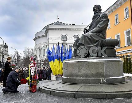 Monument to Mikhail Grushevsky in Kiev