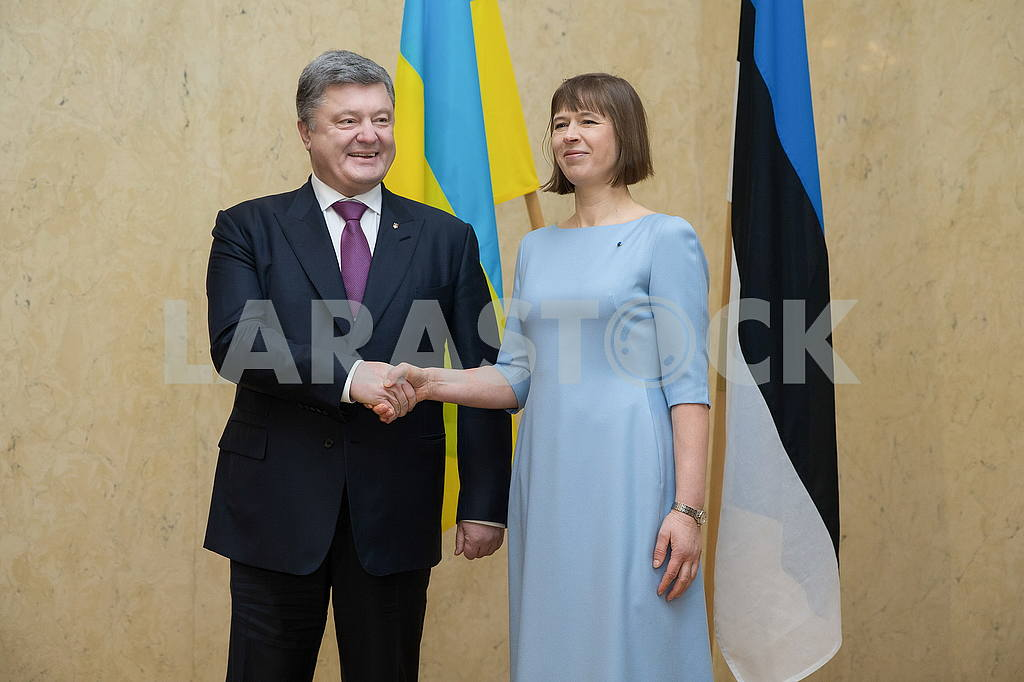 Presidents of Estonia and Ukraine Kersti Kalyulaid and Petro Poroshenko — Image 50605