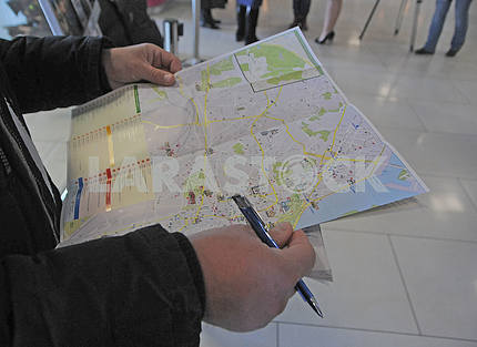 "Opening of the tourist information center at the airport ""Kiev"" (Zhulyany)"