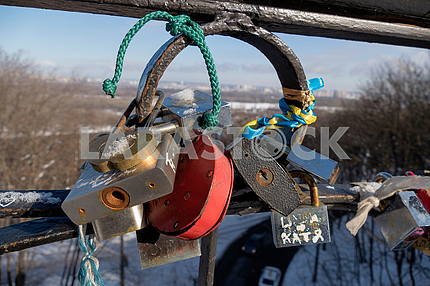 Locks on the bridge of lovers
