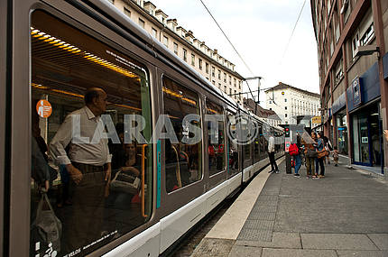 Tram on Strasbourg Str.