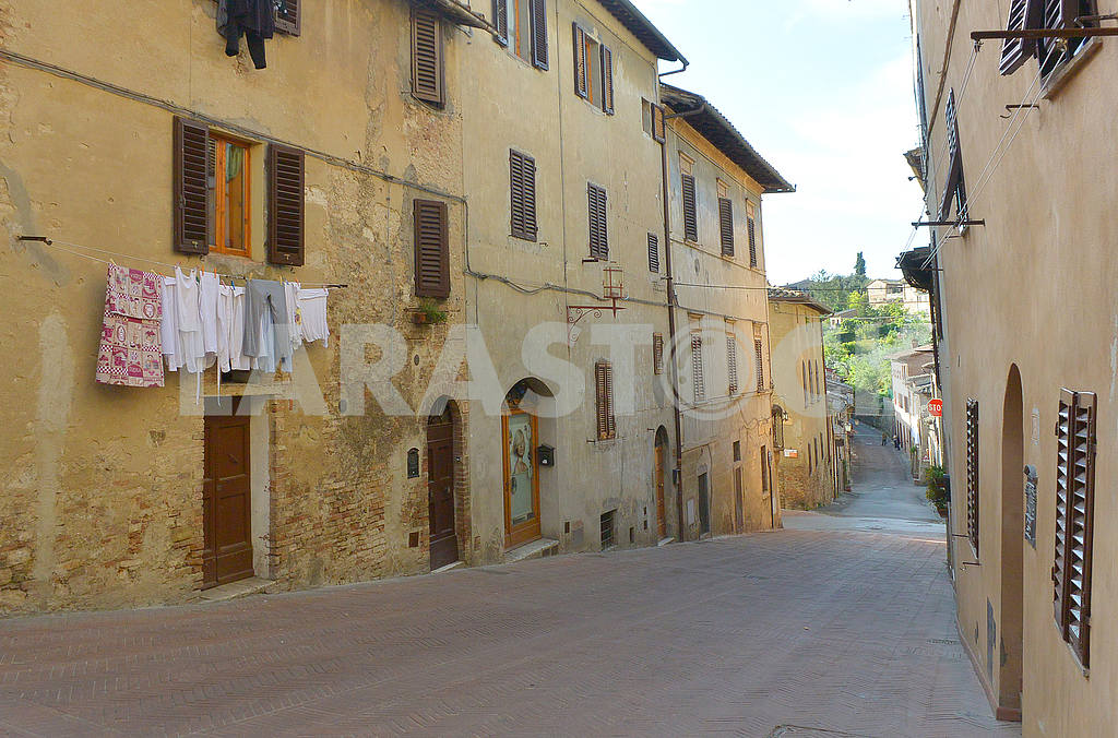 Drying clothes in San Gimignano — Image 50783
