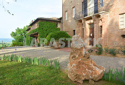 Ancient villa in Siena, Tuscany, Italy