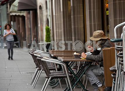 Street cafe in Strasbourg