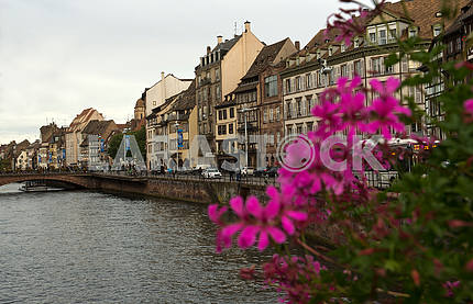 Bridge over the river Il in Strasbourg