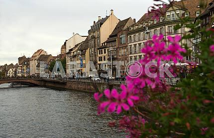 Bridge over the river Il in Strasbourg