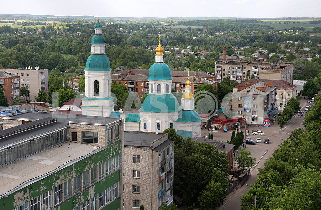 View of the city Glukhov to the water tower — Image 50837