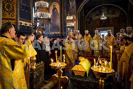 A memorial service for Alexander Olesya