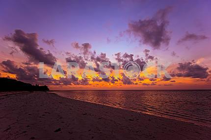 Evening coast Diani