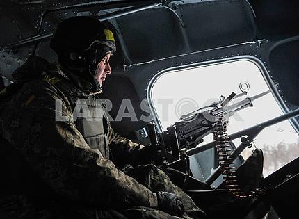 Shooter from the machine gun