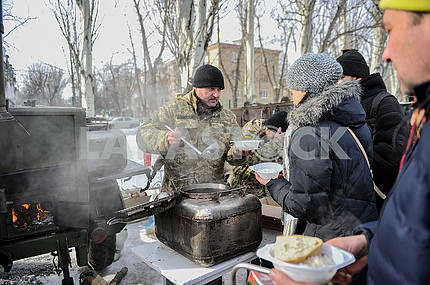 Field kitchen in Avdeevka