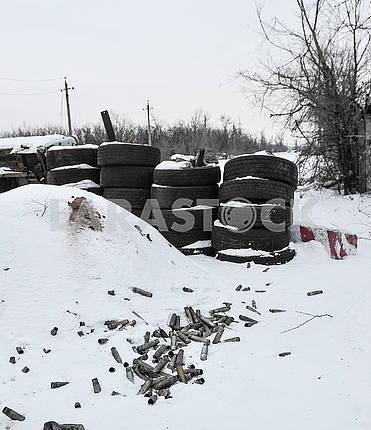 Strengthening of tires in Avdeevka