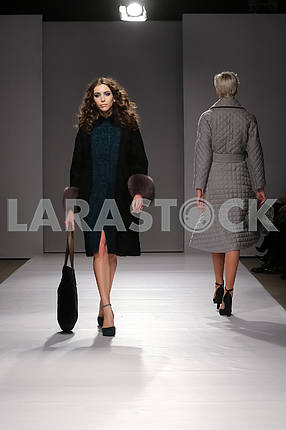 Showing V by Gres, a girl in a black coat