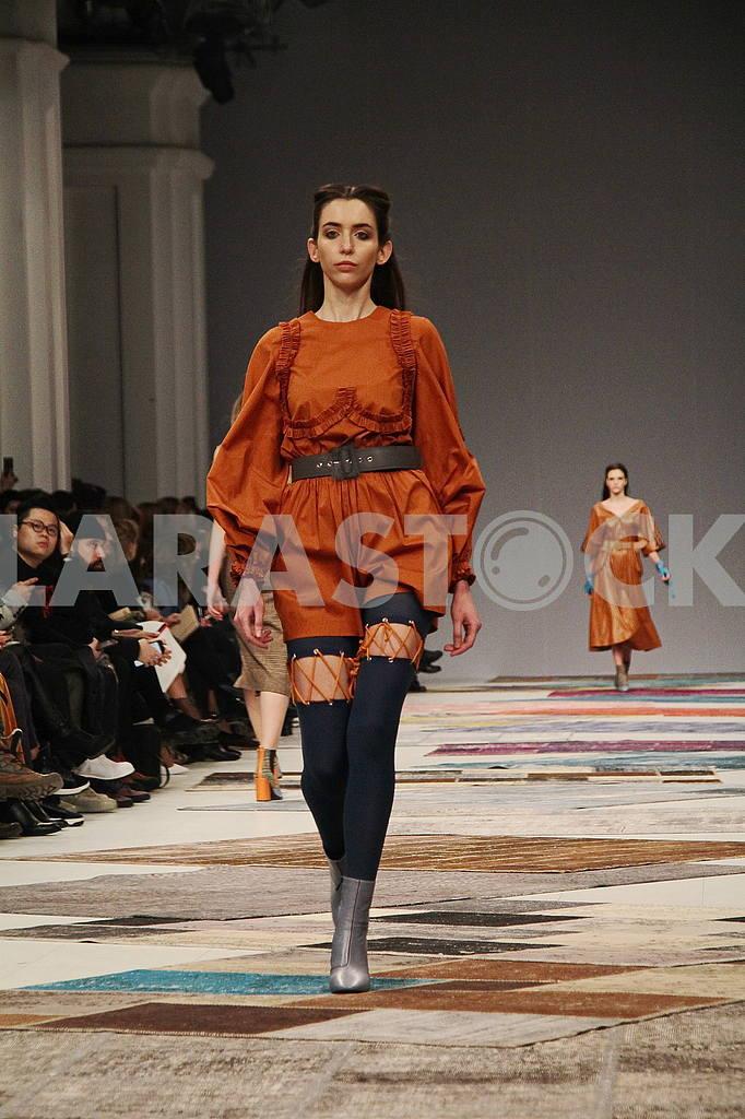 Girl in brown dress — Image 51251