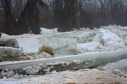 Ice drift in Transcarpathia