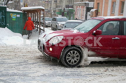 Iced car in Kiev