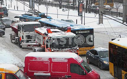 Traffic jams in Kiev