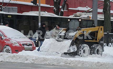 Snowplow in Kiev