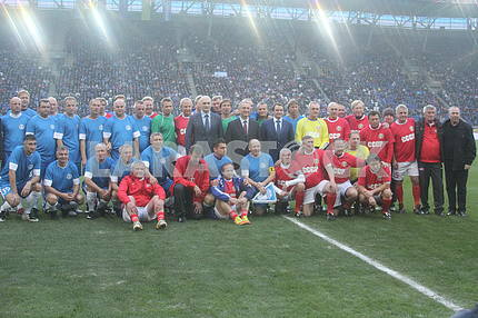 Match veterans of the Dnieper and the USSR team