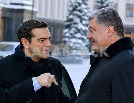 Alexis Tsipras and Petro Poroshenko