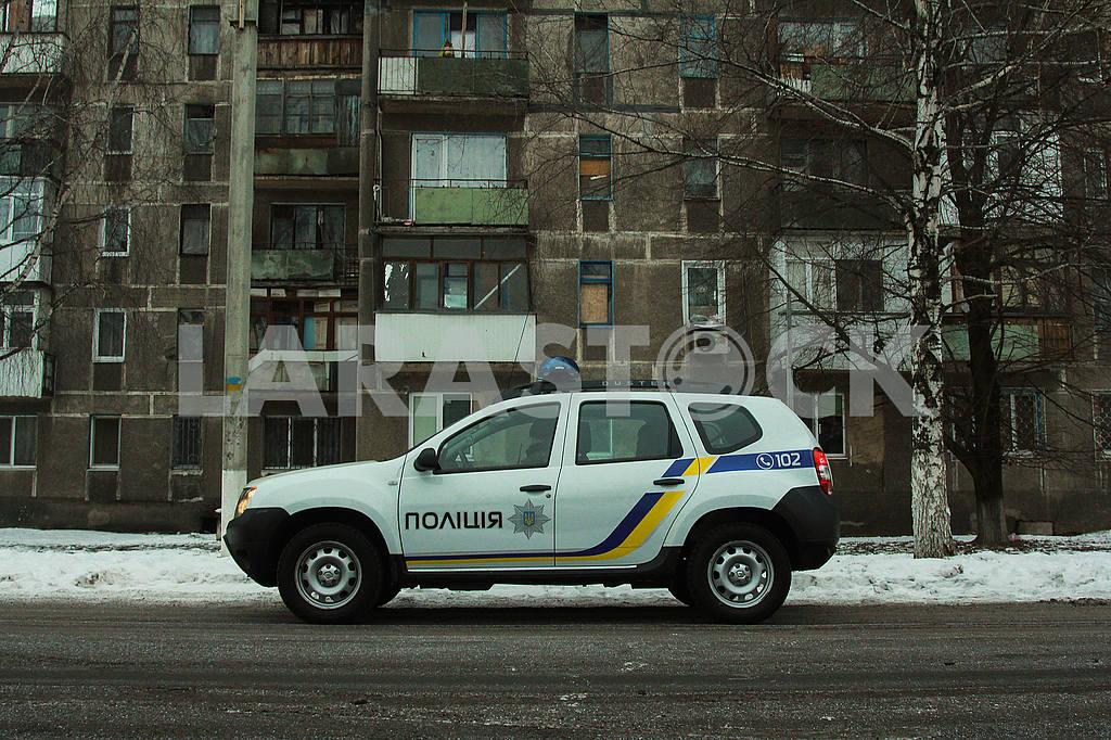 Police patrol car in Avdeevka — Image 51510