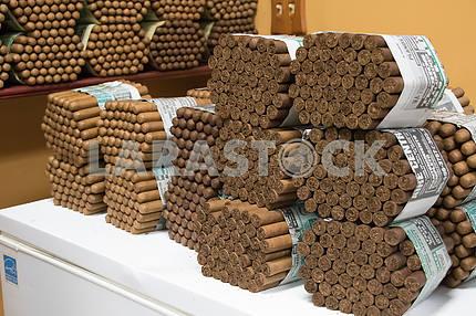 Кубинские сигары в магазине табачных изделий. Литл-Гавана. Майами