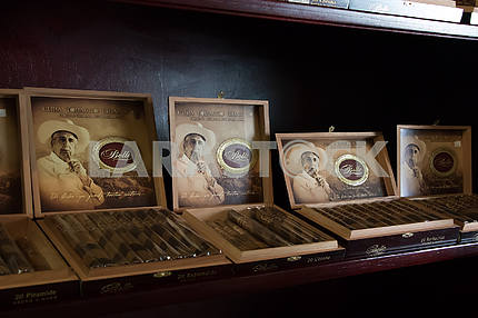 Cuban cigars in a tobacco shop. Little Havana. Miami