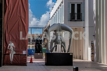 The statue of Kate Moss in Miami