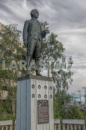 Monument to Captain James Cook.  Anchorage. Alaska