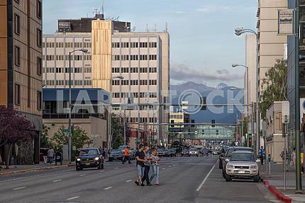 На улицах Анкориджа. Аляска