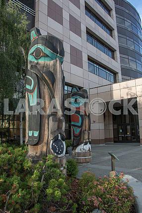 Totem installed in Anchorage. Alaska