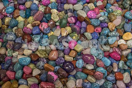Multi-colored sea stones