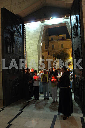 Procession goes through the streets of Nazareth