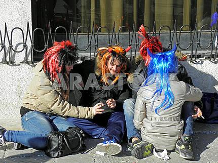 Карнавал в Венеции, Италии, Европе, 12