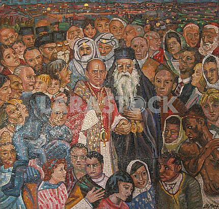 Mosaic in Dominus Flevit Church, Jerusalem