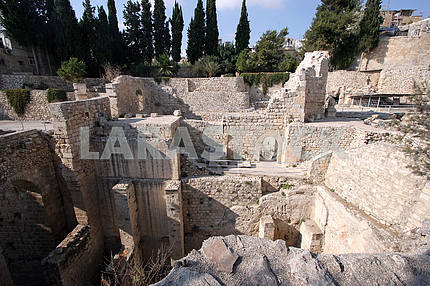 Pool of Bethesda in Jerusalem