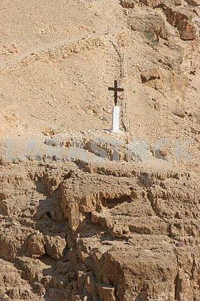 Cross, Judea desert, Israel