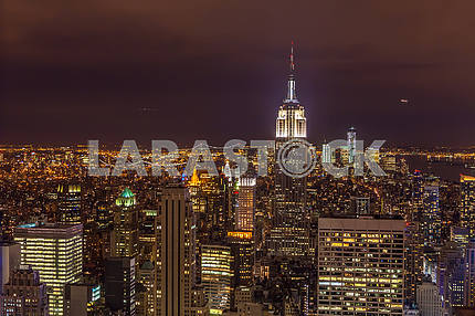 The beauty of the night in New York. USA