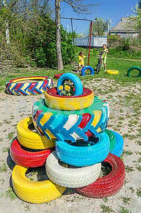 Playground. The village of Kozin. Ukraine