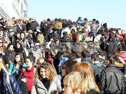 Venice carnival's crowd,6