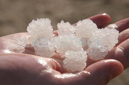 The big crystal of salt of Dead Sea